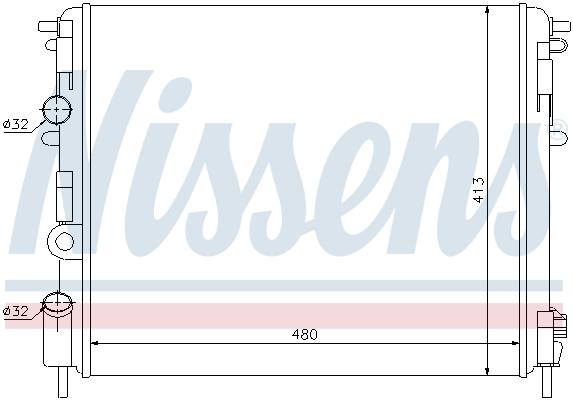 Radiateur de refroidissement NISSENS 63809 (X1)