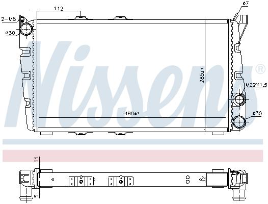 Radiateur de refroidissement NISSENS 64010 (X1)