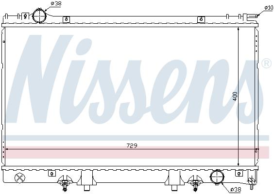 Radiateur de refroidissement NISSENS 645951 (X1)