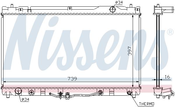 Radiateur de refroidissement NISSENS 64633 (X1)