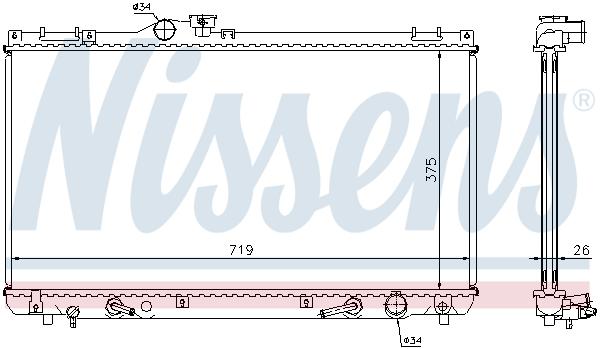 Radiateur de refroidissement NISSENS 64653A (X1)