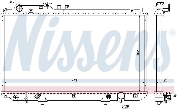 Radiateur de refroidissement NISSENS 64658 (X1)