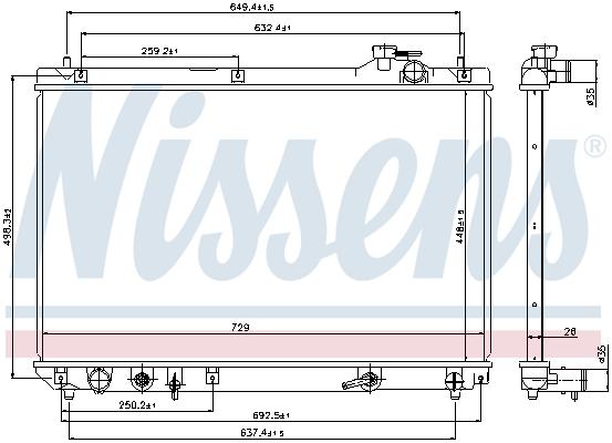 Radiateur de refroidissement NISSENS 64659 (X1)