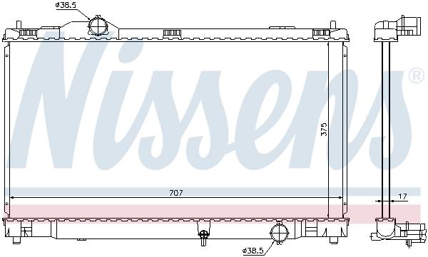 Radiateur de refroidissement NISSENS 64672 (X1)