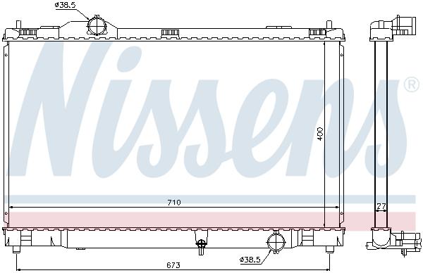 Radiateur de refroidissement NISSENS 646817 (X1)