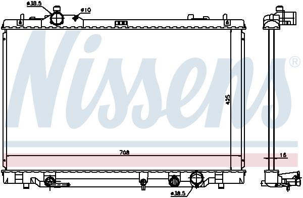 Radiateur de refroidissement NISSENS 646819 (X1)