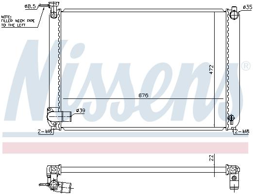 Radiateur de refroidissement NISSENS 646829 (X1)