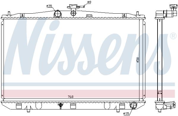 Radiateur de refroidissement NISSENS 646833 (X1)