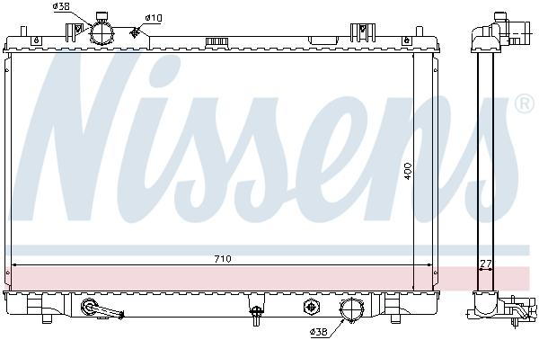 Radiateur de refroidissement NISSENS 646834 (X1)