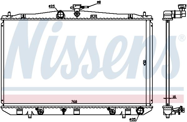 Radiateur de refroidissement NISSENS 646836 (X1)