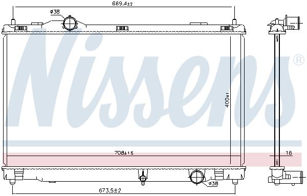 Radiateur de refroidissement NISSENS 646856 (X1)