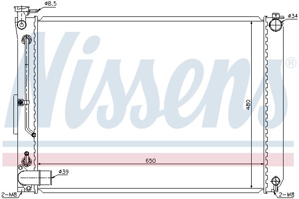 Radiateur de refroidissement NISSENS 646866 (X1)