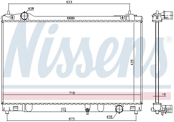 Radiateur de refroidissement NISSENS 646874 (X1)