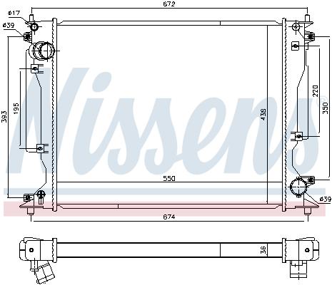 Radiateur de refroidissement NISSENS 646904 (X1)