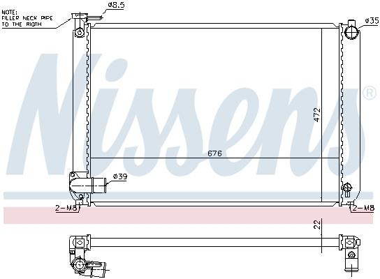 Radiateur de refroidissement NISSENS 646913 (X1)