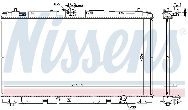 Radiateur de refroidissement NISSENS 646935 (X1)