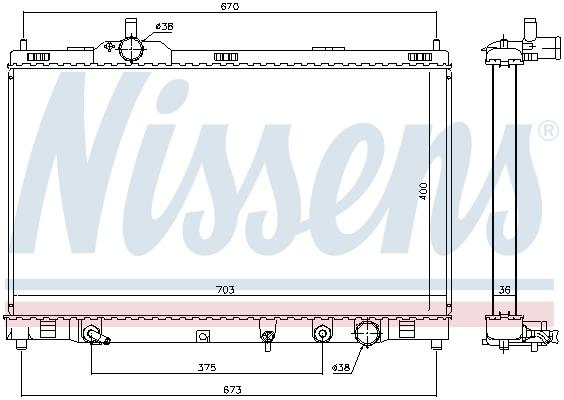 Radiateur de refroidissement NISSENS 646946 (X1)
