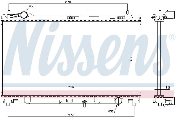 Radiateur de refroidissement NISSENS 646948 (X1)