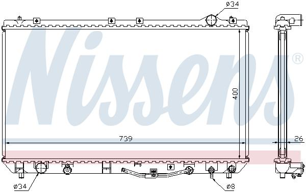 Radiateur de refroidissement NISSENS 647541 (X1)