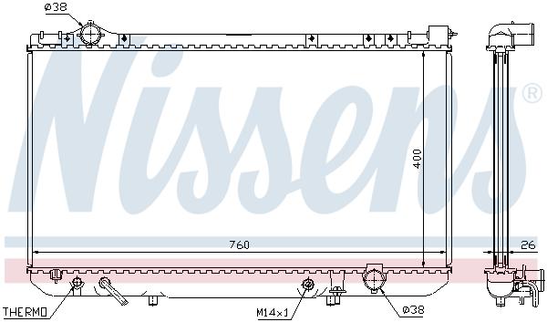 Radiateur de refroidissement NISSENS 64756 (X1)