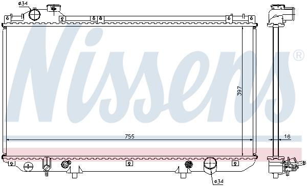 Radiateur de refroidissement NISSENS 64759 (X1)