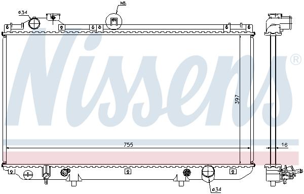 Radiateur de refroidissement NISSENS 64762 (X1)
