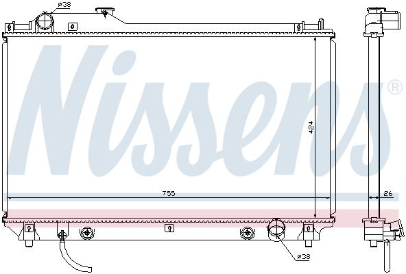 Radiateur de refroidissement NISSENS 64764 (X1)