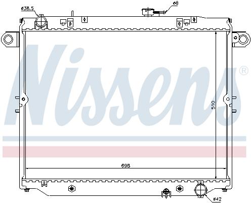 Radiateur de refroidissement NISSENS 64882 (X1)