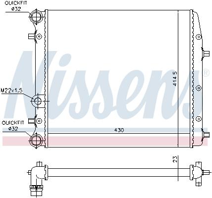 Radiateur de refroidissement NISSENS 652691 (X1)