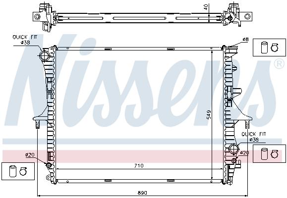 Radiateur de refroidissement NISSENS 65276A (X1)