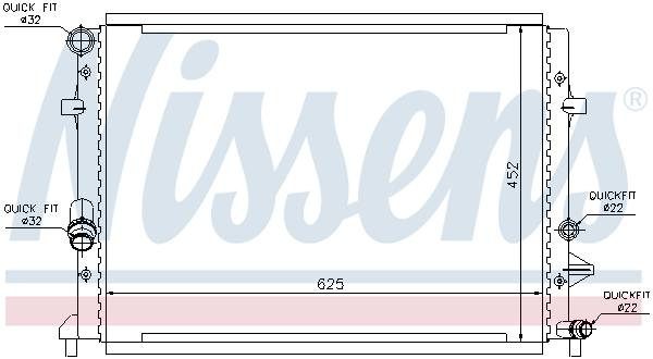 Radiateur de refroidissement NISSENS 65295 (X1)
