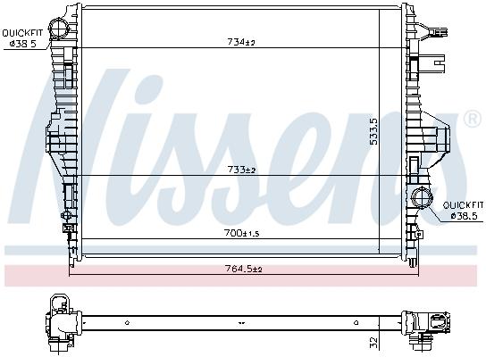 Radiateur de refroidissement NISSENS 65297 (X1)