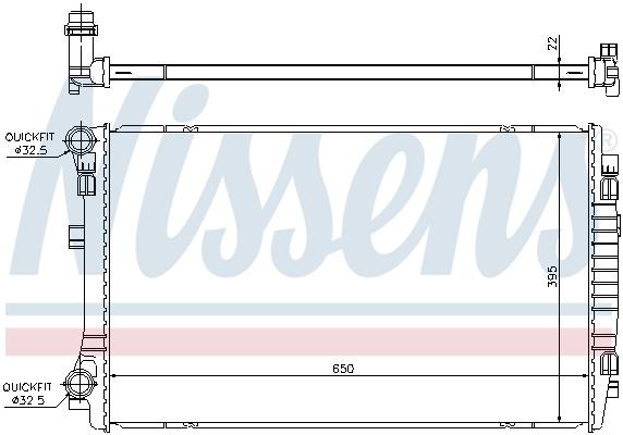 Radiateur de refroidissement NISSENS 65303 (X1)