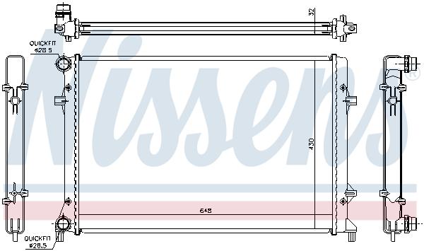 Radiateur de refroidissement NISSENS 65307 (X1)