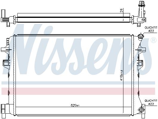 Radiateur de refroidissement NISSENS 65328 (X1)