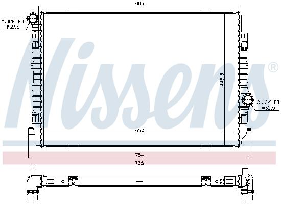 Radiateur de refroidissement NISSENS 65341 (X1)