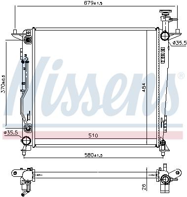 Radiateur de refroidissement NISSENS 66698 (X1)