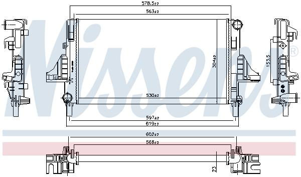 Radiateur de refroidissement NISSENS 699702 (X1)