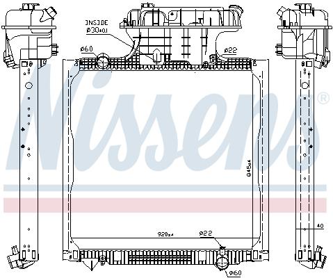 Radiateur de refroidissement NISSENS 67322 (X1)