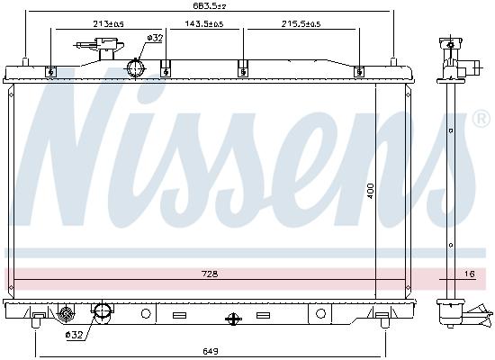 Radiateur de refroidissement NISSENS 68450 (X1)