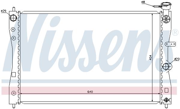 Radiateur de refroidissement NISSENS 68183 (X1)