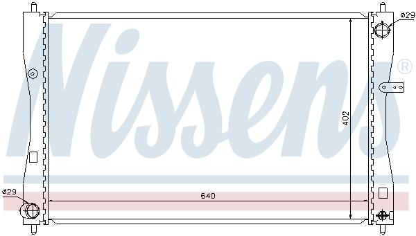 Radiateur de refroidissement NISSENS 68184 (X1)