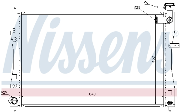 Radiateur de refroidissement NISSENS 68185 (X1)