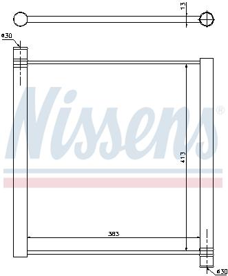 Radiateur de refroidissement NISSENS 68451 (X1)