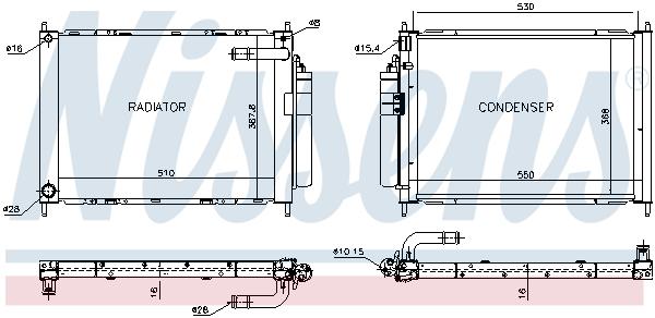 Module de refroidissement NISSENS 68747 (X1)