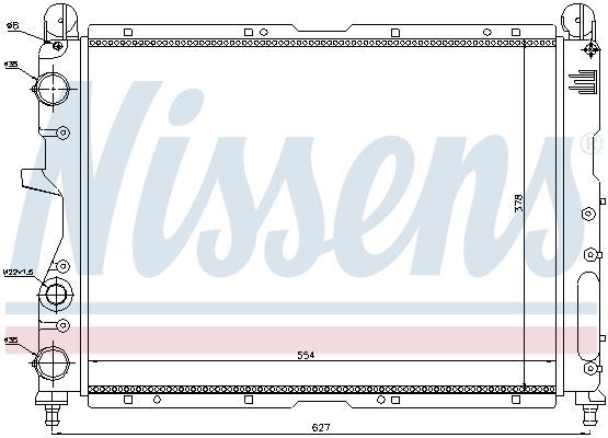 Radiateur de refroidissement NISSENS 690333 (X1)