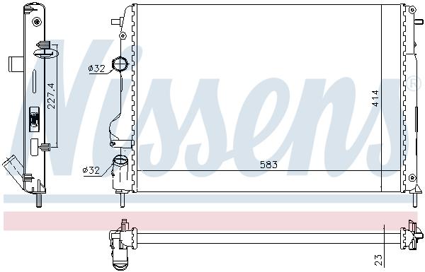 Radiateur de refroidissement NISSENS 691551 (X1)