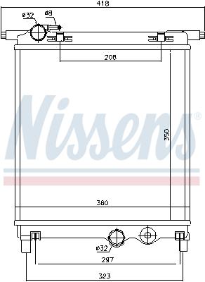 Radiateur de refroidissement NISSENS 692251 (X1)