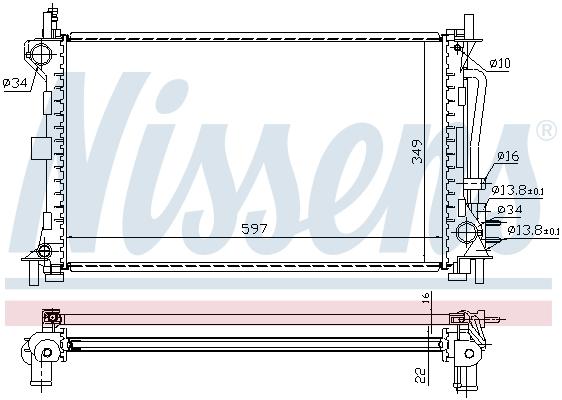 Module de refroidissement NISSENS 69244 (X1)