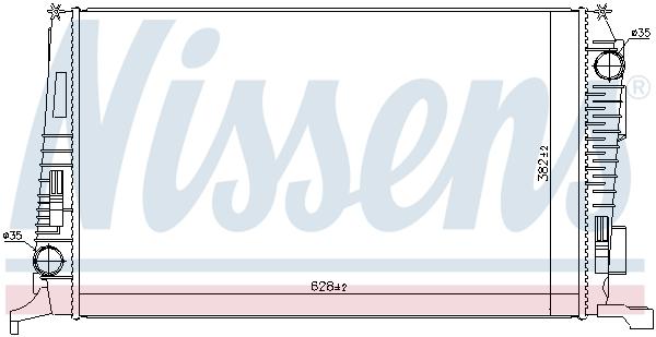 Radiateur de refroidissement NISSENS 692503 (X1)
